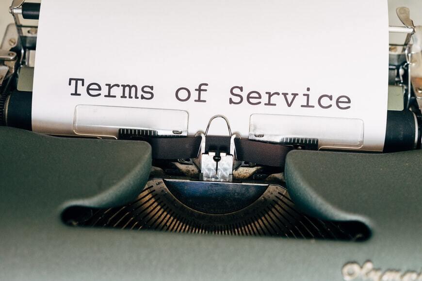 Daftar syarat dan ketentuuan
